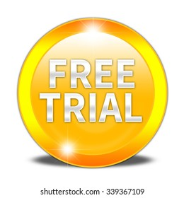 Free Trial button isolated