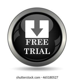 Free trial icon. Internet button on white background.
