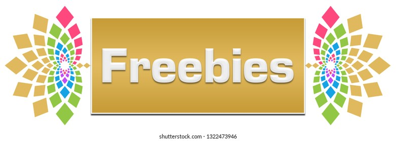 Freebies text written over colorful background.