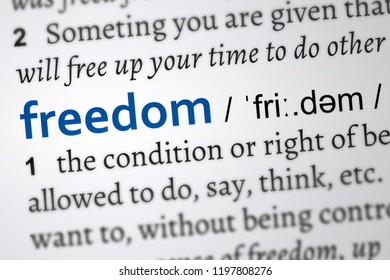 freedom word definition, focus on the concept