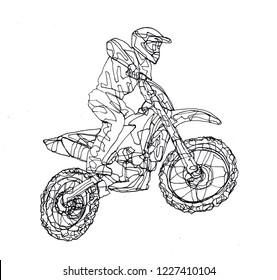 Bikes Races Drawing Images Stock Photos Vectors Shutterstock