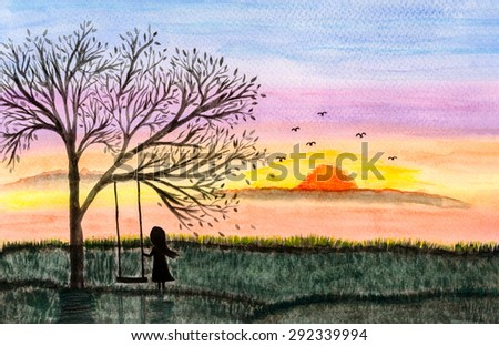 Royalty Free Stock Illustration Of Freehand Drawing Watercolor