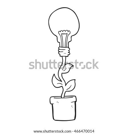Freehand Drawn Black White Cartoon Light Stock Illustration