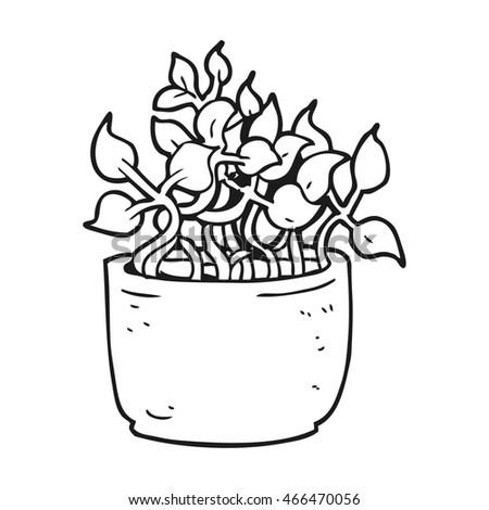 freehand drawn black white cartoon house stock illustration Black and White Cartoon School freehand drawn black and white cartoon house plant