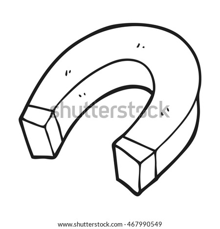 Freehand Drawn Black White Cartoon Magnet Stock Illustration