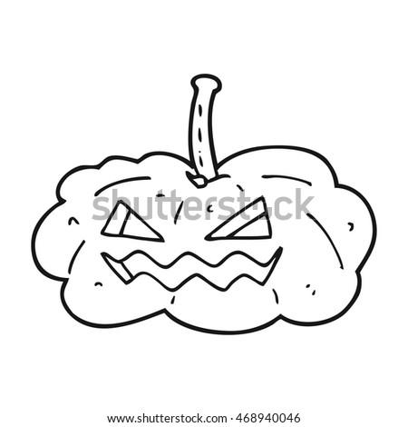 Freehand Drawn Black White Cartoon Halloween Stock Illustration