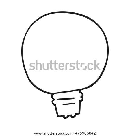 Freehand Drawn Black White Cartoon Light Stockillustration 475906042