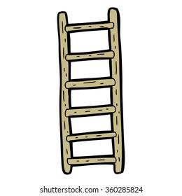 freehand drawn cartoon ladder