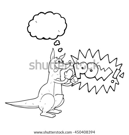 Freehand Drawn Thought Bubble Cartoon Boxing Stock Illustration