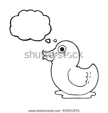 Freehand Drawn Thought Bubble Cartoon Rubber Stock Illustration