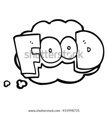 Freehand Drawn Thought Bubble Cartoon Word Stock Illustration