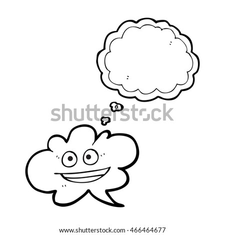 Freehand Drawn Thought Bubble Cartoon Cloud Stock Illustration