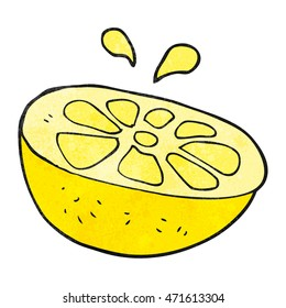 freehand textured cartoon lemon