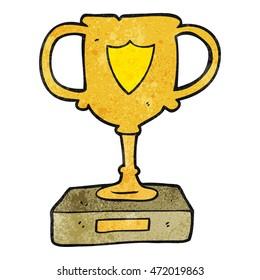 freehand textured cartoon trophy