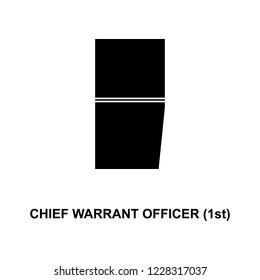 French chief warrant officer 1st military ranks and insignia glyph icon