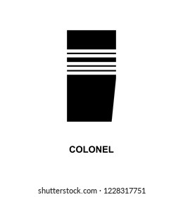 French colonel military ranks and insignia glyph icon