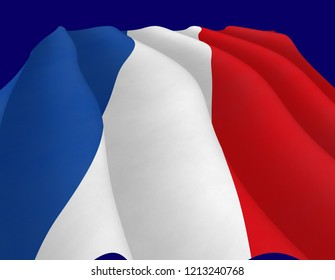 French flag, view up
