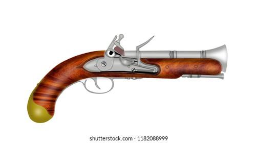 French flintlock naval pistol.
