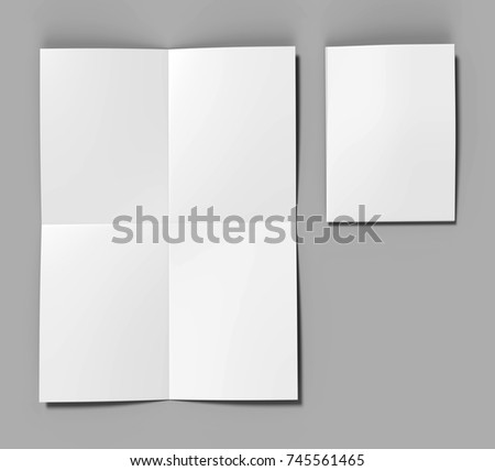 french fold a 4 a 5 square brochure stock illustration 745561465