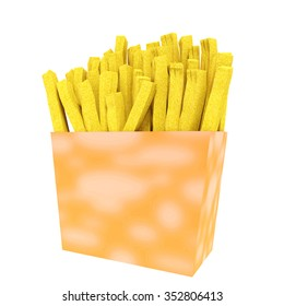 French Fries Package Die Cut Template Stock Illustration 330011138