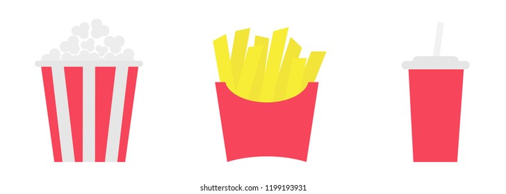 Fast Food Set Menu Yellow Gradient Background Fast Food: Straw Wrapper Images, Stock Photos & Vectors