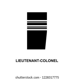 French lieutenant colonel military ranks and insignia glyph icon
