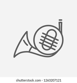 French marine icon line symbol. Isolated  illustration of  icon sign concept for your web site mobile app logo UI design.