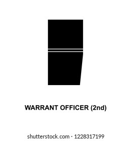 French warrant officer 2nd military ranks and insignia glyph icon