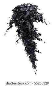 fresh clean black water or oil splash
