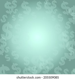 fresh Dollar sign background with space for own text