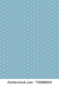 Fresh geometric teal pattern.