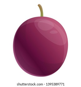 Fresh maracuja icon. Cartoon of fresh maracuja icon for web design isolated on white background