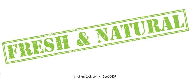 fresh & natural green stamp