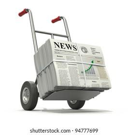 Fresh newspaper concept.