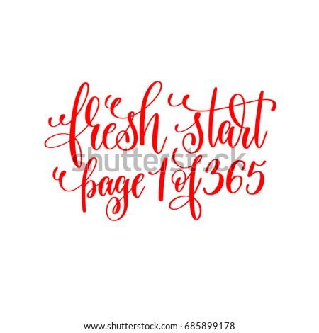 Fresh Start Page 1 365 Red Stock Illustration 685899178 - Shutterstock