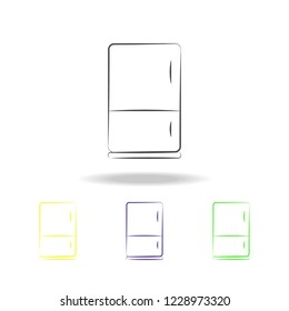 Fridge Multicolored Icons Element Electrical Devices Stock Vector