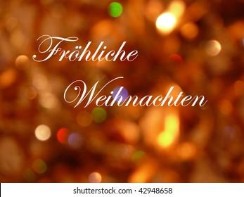 Froehliche Weihnachten  (in German Language)