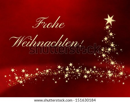 Frohe Weihnachten Merry Christmas German Stockillustration 151630184 ...