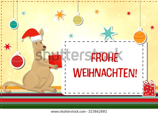 Weihnachten Funny.Frohe Weihnachten Merry Christmas German Funny Stock Illustration