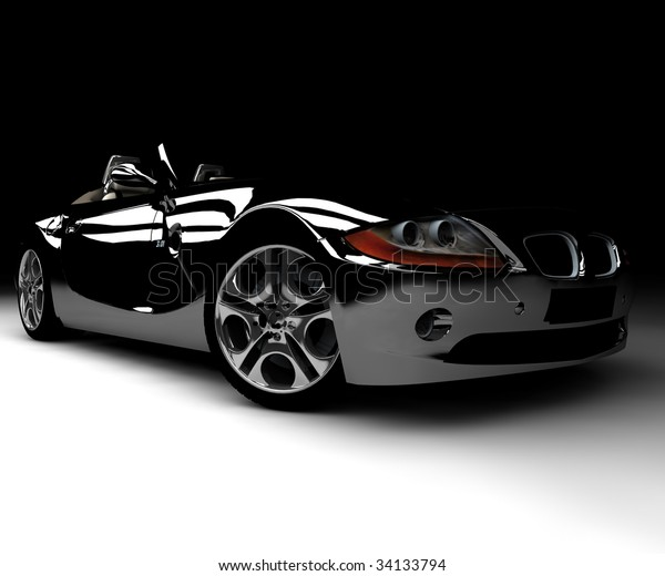 A front black car