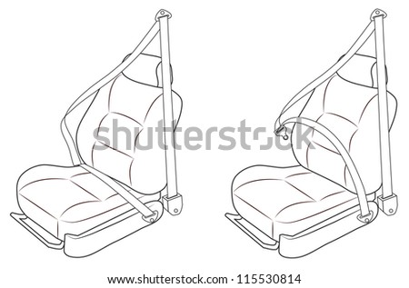 Front Passenger Seat Of The Car With Belts