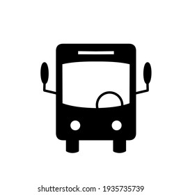 the front-view of bus icon log template