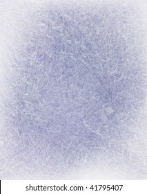 frosted icy window blue background with snowy white border on frame