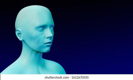 frozen cold temperature dummy symptom 3D illustration