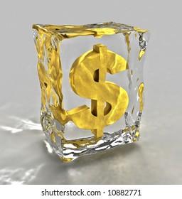 Frozen dollar sign render