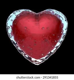 Frozen heart concept, 3D render