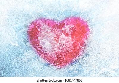 Frozen heart Illustration. Valentine's Day. Love concept image