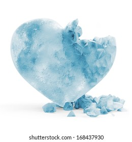Frozen Heart isolated on white background