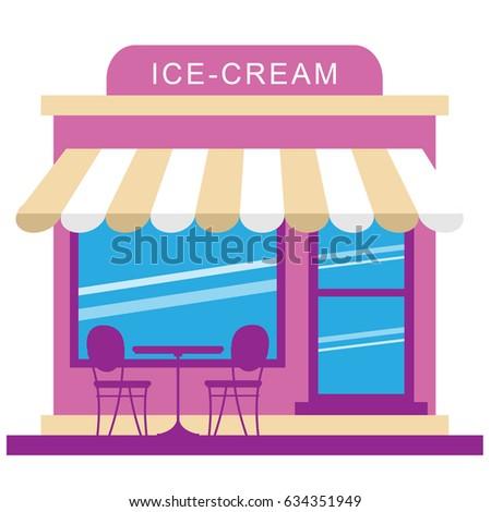 frozen ice cream store displays dessertのイラスト素材 634351949