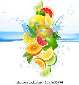 fruit water splash mix isolated easy to use